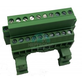 Afneembare connector DIN rail 10 polig